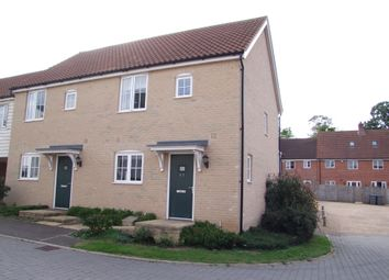 Thumbnail 2 bed semi-detached house for sale in Warren Avenue, Saxmundham