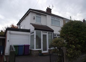 Thumbnail 3 bed semi-detached house to rent in Linkside Road, Woolton, Liverpool