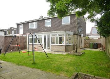 Thumbnail 3 bed semi-detached house for sale in Ashleigh Gardens, Wymondham