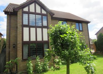 Thumbnail 4 bed detached house for sale in Downham Crescent, Wymondham