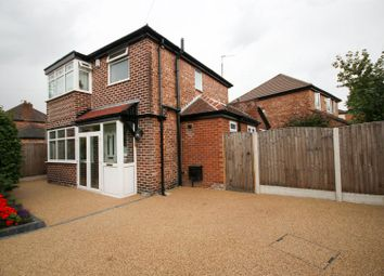 Thumbnail 3 bed detached house for sale in Greenfield Avenue, Urmston, Manchester