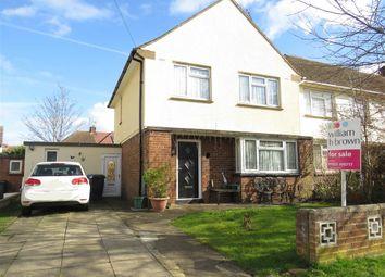 Thumbnail 3 bedroom end terrace house for sale in Denton Close, Rushden