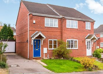 Thumbnail 2 bed semi-detached house for sale in Rowley Close, Swadlincote