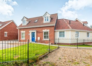 Thumbnail 3 bedroom chalet for sale in Winceby Close, Wisbech