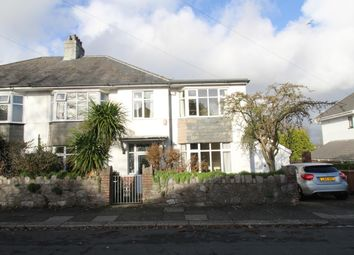 Thumbnail 4 bed semi-detached house for sale in Compton Avenue, Mannamead, Plymouth