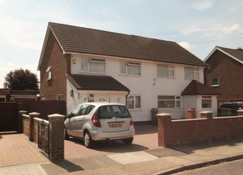 Thumbnail 3 bed semi-detached house to rent in Comet Road, Stanwell, Staines