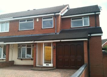Thumbnail 4 bed semi-detached house to rent in Bond Way, Hednesford, Cannock