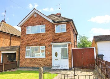 Thumbnail 3 bed detached house for sale in Heathfield Road, Wigston