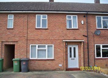 Thumbnail 3 bed terraced house to rent in Hallfields Lane, Gunthorpe, Peterborough