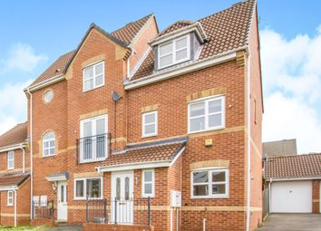Thumbnail 4 bedroom end terrace house for sale in Pipistrelle Way, Oadby, Leicester