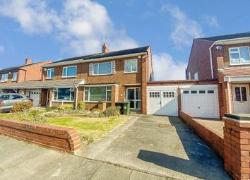 Thumbnail 3 bed semi-detached house for sale in Rathmore Gardens, North Shields