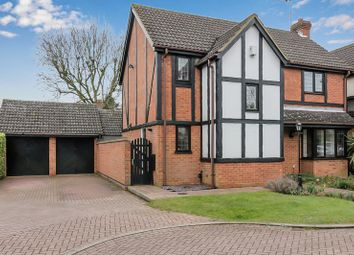 Thumbnail 4 bedroom detached house for sale in Fulbourne Close, Luton