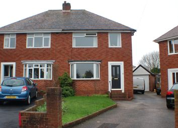 Thumbnail 3 bed semi-detached house to rent in Glenmore Road, Heavitree, Exeter, Devon