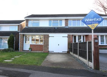 Thumbnail 3 bed semi-detached house for sale in Willowford, Yateley, Hampshire