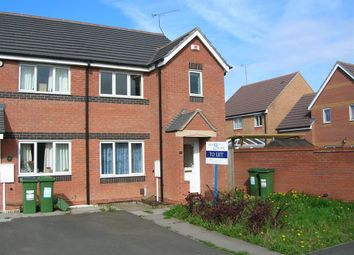 Thumbnail 3 bed semi-detached house to rent in Bromwich Close, Thorpe Astley