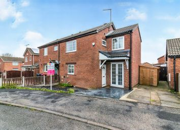 Thumbnail 3 bed semi-detached house for sale in Ashleigh Gardens, Greasbrough, Rotherham