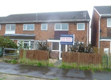 Thumbnail 3 bed end terrace house to rent in Carmarthen Close, Llantwit Major
