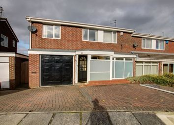 Thumbnail 4 bed semi-detached house for sale in Barnard Close, Newton Hall, Durham