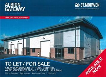 Thumbnail Warehouse to let in Albion Gateway, Derby Road, Burton Upon Trent, Staffordshire