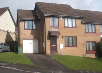 Thumbnail 4 bed semi-detached house for sale in Clover Court, Ty Canol, Cwmbran
