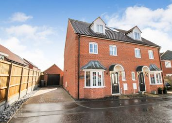 Thumbnail 4 bed town house for sale in Blackbird Way, Harleston