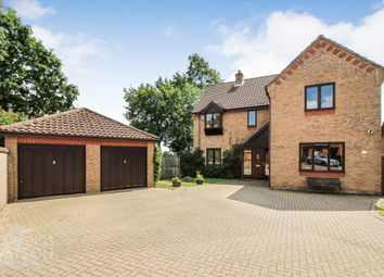 Thumbnail 4 bed detached house for sale in Brooks Meadow, Poringland, Norwich