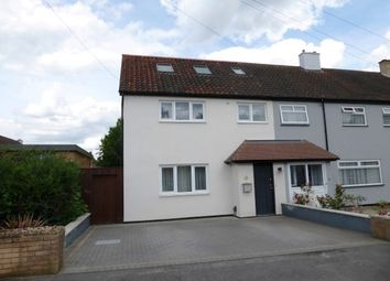 Thumbnail 4 bedroom end terrace house for sale in Hatherleigh Close, Chessington