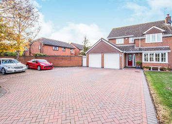 Thumbnail 4 bed detached house for sale in Cosby Road, Broughton Astley, Leicester