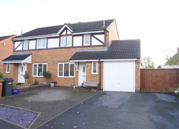 Thumbnail 3 bed semi-detached house for sale in Cowman Close, Asfordby, Melton Mowbray