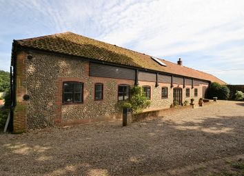Thumbnail 4 bedroom barn conversion for sale in Saxthorpe Road, Thurning, Melton Constable, Norfolk.