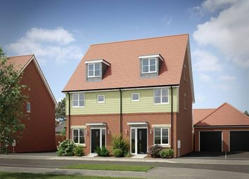 "Thumbnail 3 bed semi-detached house for sale in ""The Kineton Semi Detached"" at London Road, Calverton, Milton Keynes"