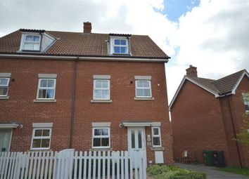 Thumbnail 3 bed semi-detached house for sale in Pelargonium Drive, Wymondham, Norwich