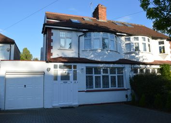 Thumbnail 4 bed semi-detached house to rent in Sylvia Avenue, Hatch End Pinner