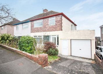 Thumbnail 3 bed semi-detached house for sale in Woodford Avenue, Plympton, Plymouth