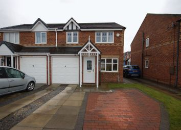 Thumbnail 3 bed semi-detached house for sale in The Wynd, Forest Hall, Newcastle Upon Tyne