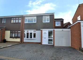 Thumbnail 4 bed semi-detached house for sale in Navarre Gardens, Collier Row, Romford