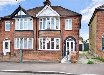 Thumbnail 3 bed semi-detached house for sale in Cleave Road, Gillingham, Kent
