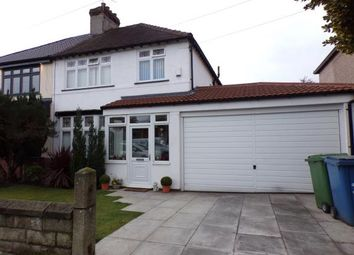 Thumbnail 3 bed semi-detached house for sale in Hightor Road, Woolton, Liverpool, Merseyside