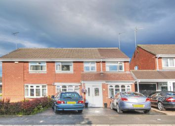 Thumbnail 4 bed semi-detached house for sale in Hersham Close, Kingston Park, Newcastle Upon Tyne