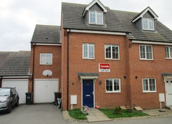 Thumbnail 4 bed semi-detached house for sale in Flycatcher Road, Corby