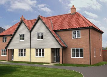 Thumbnail 3 bed semi-detached house for sale in The Ridings, Poringland, Norwich