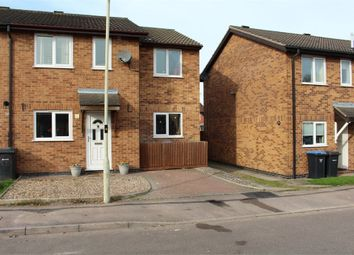 Thumbnail 3 bed semi-detached house for sale in Bushnell Close, Broughton Astley, Leicester