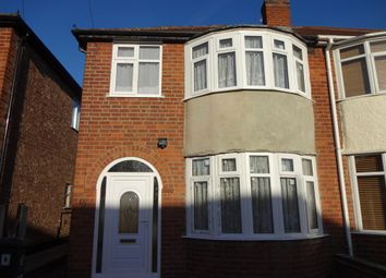 Thumbnail 3 bedroom semi-detached house to rent in Eastwood Road, Leicester, Leicestershire