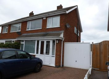 Thumbnail 3 bed semi-detached house to rent in Kew Drive, Oadby, Leicester