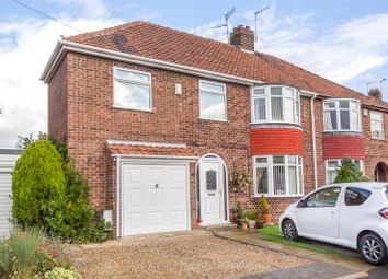 Thumbnail 4 bedroom semi-detached house for sale in Rawcliffe Croft, York
