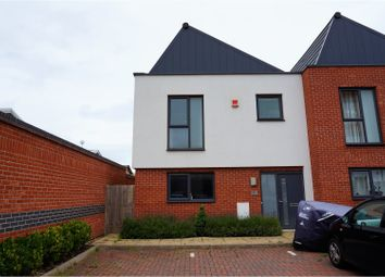 Thumbnail 3 bedroom town house for sale in Wheatsheaf Way, Leicester