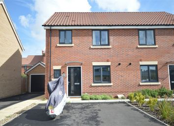 Thumbnail 3 bed semi-detached house for sale in Fieldfare Way, Queens Hills, Costessey, Norwich