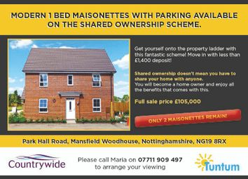 Thumbnail 1 bedroom maisonette for sale in Piccadilly Close, Mansfield Woodhouse, Nottinghamshire