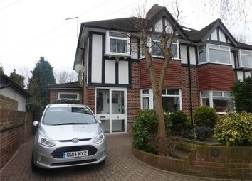 Thumbnail 3 bed semi-detached house for sale in Whitton Manor Road, Isleworth, Middlesex