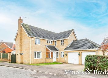 Thumbnail 4 bed detached house for sale in Luscombe Way, Rackheath, Norwich